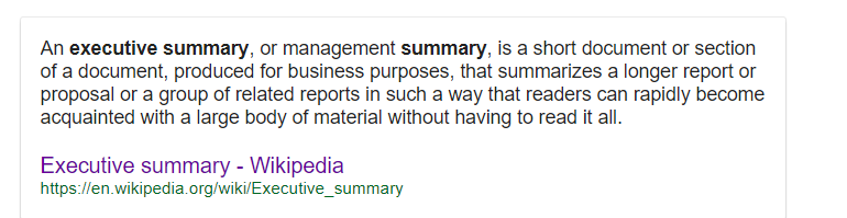 how long should a summary be